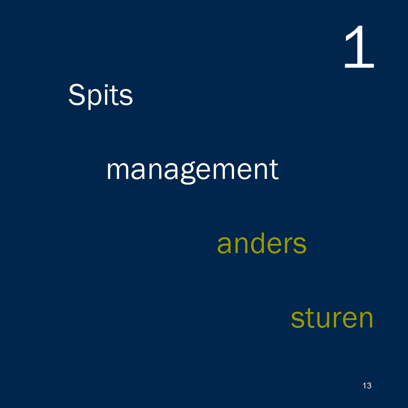 Spitsmanagement